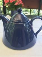 Olasz Pagnossin kerámia teáskanna középkék színben