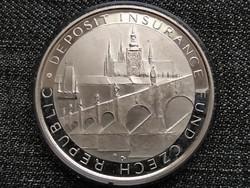 Cseh Köztársaság Betétbiztosítási alap 10. évfordulója ezüst emlékérem 1994-200 (id23393)
