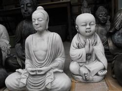 Ritka Szép 50cm Buddha Feng Shui  Minőségi Import Fagyálló műkő csobogó szobor