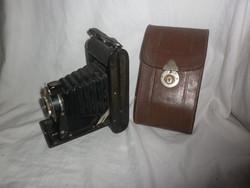 Antik német voitlander harmonikás fényképezőgép