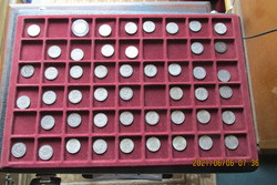Svájci ezüst félfrank gyűjtemény