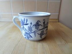 Antik Meisseni hagymamintás porcelán bögre csupor 7,5 dl