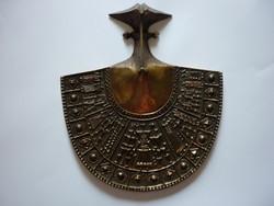 Pap Zoltán - Képcsarnokos bronz fali disztárgy