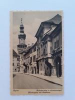 Régi képeslap 1942 Sopron Kolostor utca a várostoronnyal levelezőlap