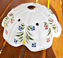 Vintage virágos kézzel festett kerámia lámpa bura