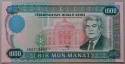 Türkmenisztán 1000 Manat 1995 UNC