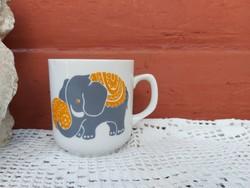 Alföldi porcelán ritkább ovis elefántos  bögre   nosztalgia darab