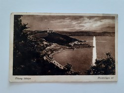 Régi képeslap Tihany látképe balatoni levelezőlap
