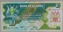 Uganda 10 Shillings UNC 1987