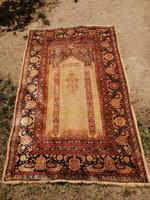 Ritka különleges írásos antik ima szőnyeg