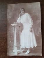 Régi női fotó vintage fénykép
