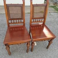Ónémet nádazott háttámlás székek- 2 db