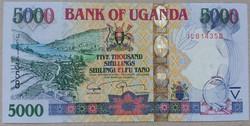 Uganda 5000 Shillings UNC 2009
