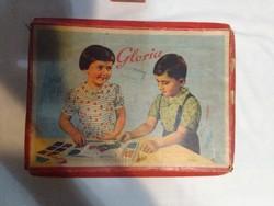 GLORIA - régi gyöngy kirakó játék - színes, fényes gyöngyökkel