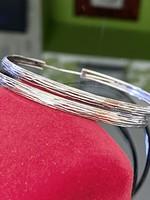 Ragyogó ezüst karika fülbevaló pár