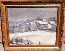 Raksányi Lajos: Csurgói házak télen