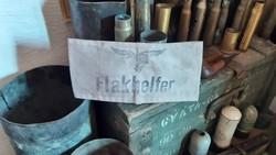RITKA! Német, náci FLAKHELFER karszalag, szép állapotban!