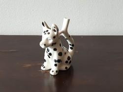 Jelzett fütyülős porcelán nipp figura dalmata kutya kerámia