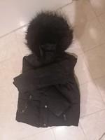 F & F márkájú szőrgalléros kislány kabát 2-5 éves korig !