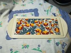 Régi porcelán süteményes tálca kínáló