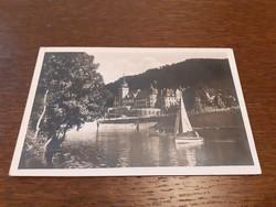 Régi képeslap 1942 Lillafüred Hámori tó a Palotaszállóval levelezőlap