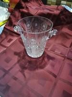 Kristály jégkocka tartó,kínáló,pezsgős vödör