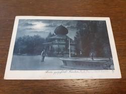 Régi képeslap 1930 Hévíz gyógyfürdő Kávéház levelezőlap