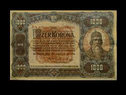 1000 KORONA 1920 - NAGYON SZÉP (Nem javított! - Eredeti!)