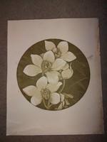 """""""Orchideák"""", linó, vagy szita, szignós, számozott, 40x50 cm"""