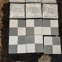 Pepita mintás kőörleményes cementlap vegyes minőségben.