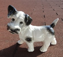 Nagyméretű Sitzendorfi foltos kutya figura - ritka, gyűjtői darab !