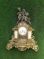 Antik kandalló óra szerkezettel