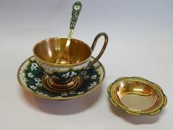 Aranyozott ezüst teáscsésze