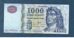 2007 1000 Forint DB sorozat VF