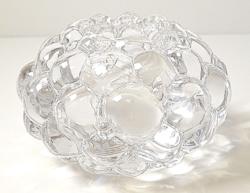 Svéd designer Orrefors kristály üveg mécsestartó / papírnehezék