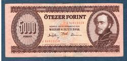 """1993 5000 Forint """" J """" sorozat VF"""
