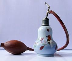 Régi kézzel festett parfümös üveg 1920-as évek