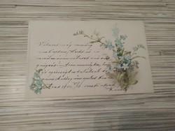 Antik Üdvözlő képeslap. (1902).