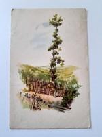 Régi képeslap tájkép levelezőlap