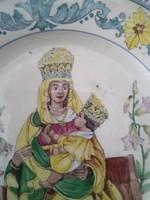 Székelyföldi, Korondi, egyházi témájú kerámia falidísz