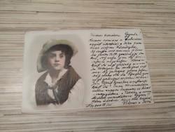 Antik Üdvözlő képeslap. (1900).