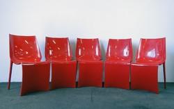 0E678 Retro formatervezett olasz design szék 5 db