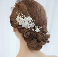 Ékszerek-hajdíszek, hajcsatok: Esküvői, menyasszonyi, alkalmi hajdísz ES-H-FÉ12