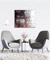 Vörös Edit: MOKKA Abstract 60x50 cm