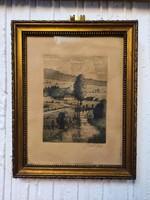Ritka antik rézkarc - Robert von Haug
