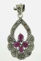 Különleges  rubin drágaköves   sterling ezüst    medál   925  - új