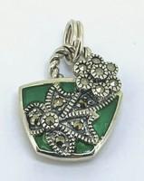 Különleges   sterling ezüst különleges   medál   ékszer zománccal 925  - új