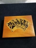 Retró kártyás doboz, kátyával