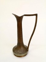 Vörösréz váza 1970 körüli, iparművészeti retro