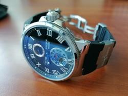 Ulysse Nardin Marine Chronometer Replika eladó új kaucsuk szíj résszel